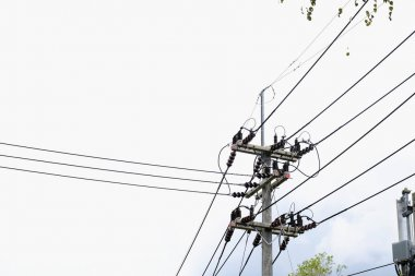 Electricity transmission in Thailand forest