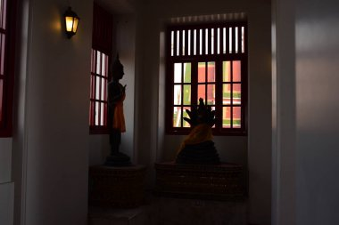 inside of Buddhists temple, travel concept