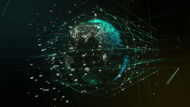 Planetenerde, abstrakte digitale Welt.