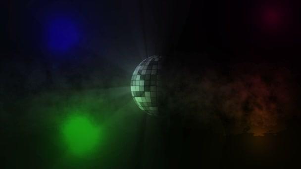 rotující disco zrcadlová koule