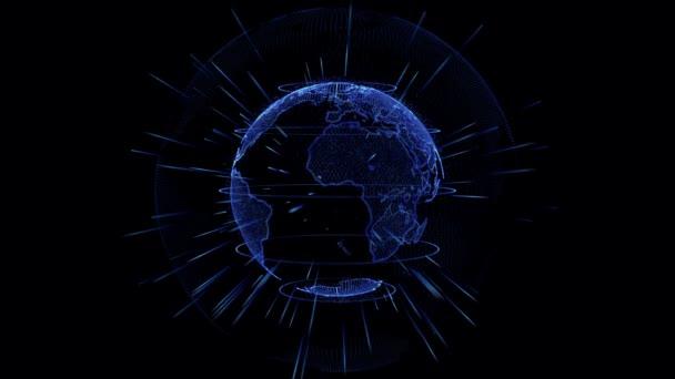 Planeta Země animace. Rotující koule
