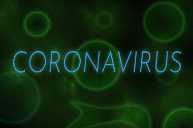 Yeşil arka plan gibi virüse yazılmış yeni Çin Coronavirüsü örnekleriName