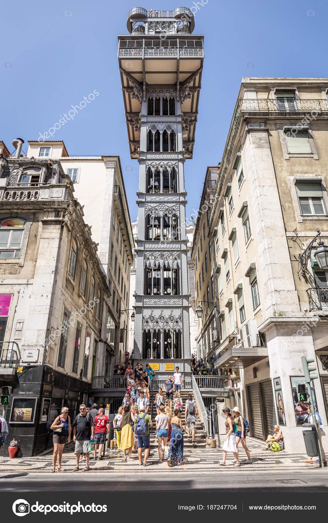 Elevador De Santa Justa En Lisboa Portugal Foto Editorial De