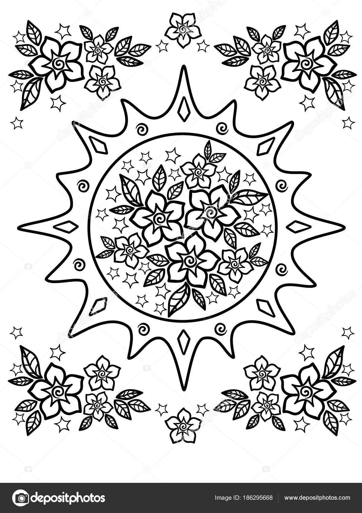 Dibujos Para Colorear Personas Mayores Flores Primavera Dibujo