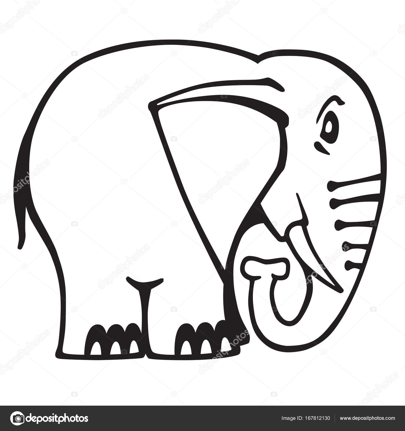Elephant Logo Black And White Stock Vector Insima 167812130