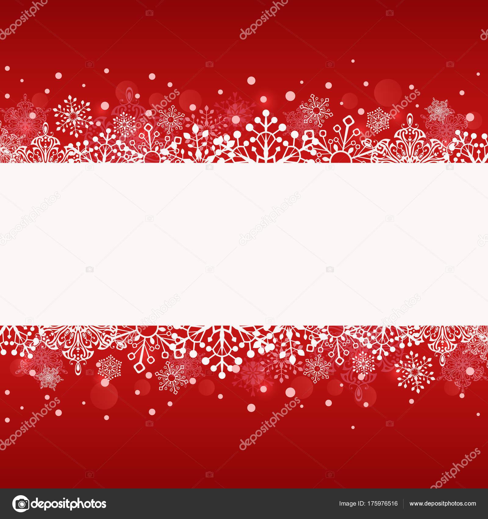 Weihnachten rote Banner mit weißen Textfreiraum — Stockvektor ...