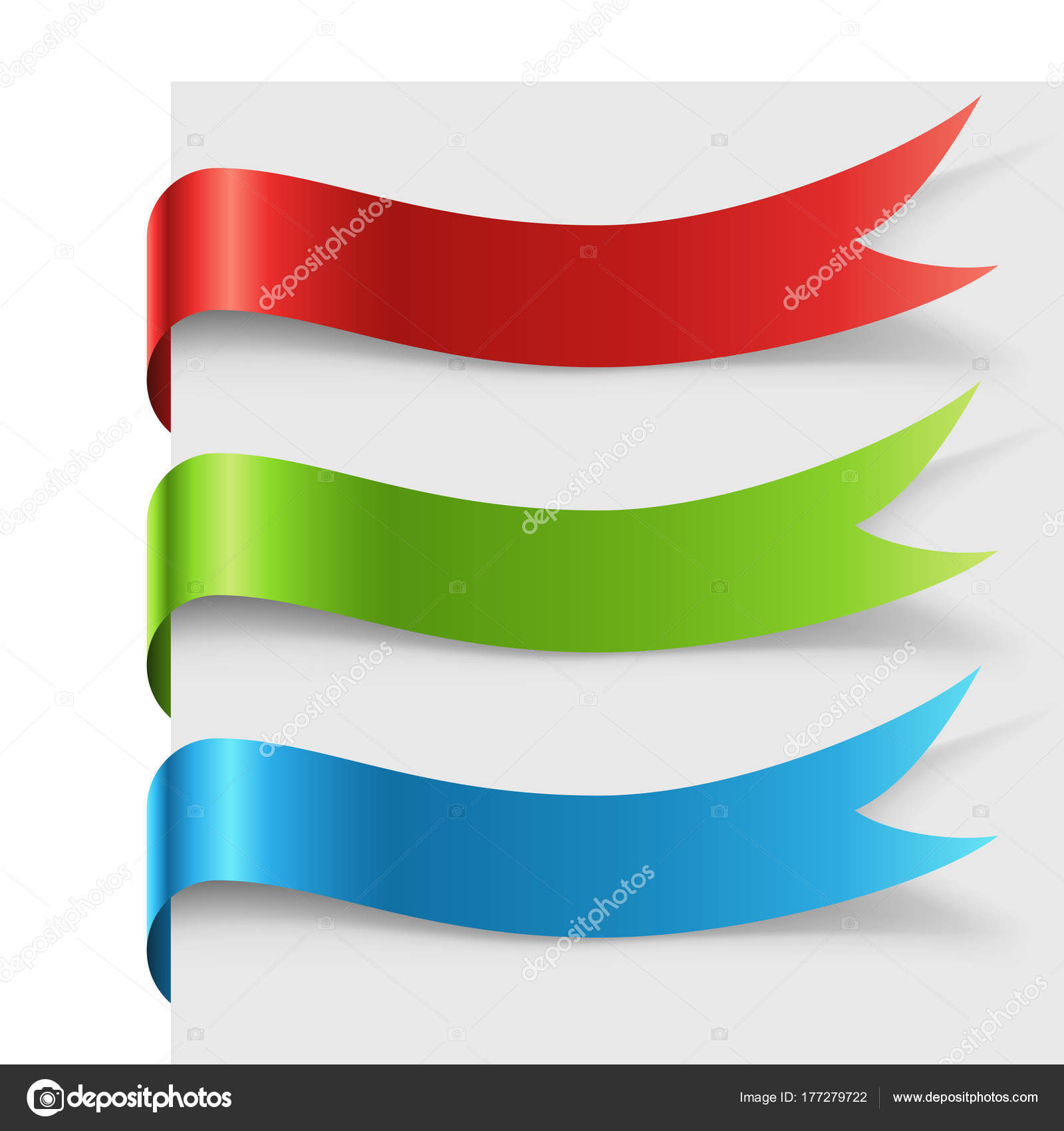 Blank color ribbon curved round the page — Stock Vector © lenapix ...