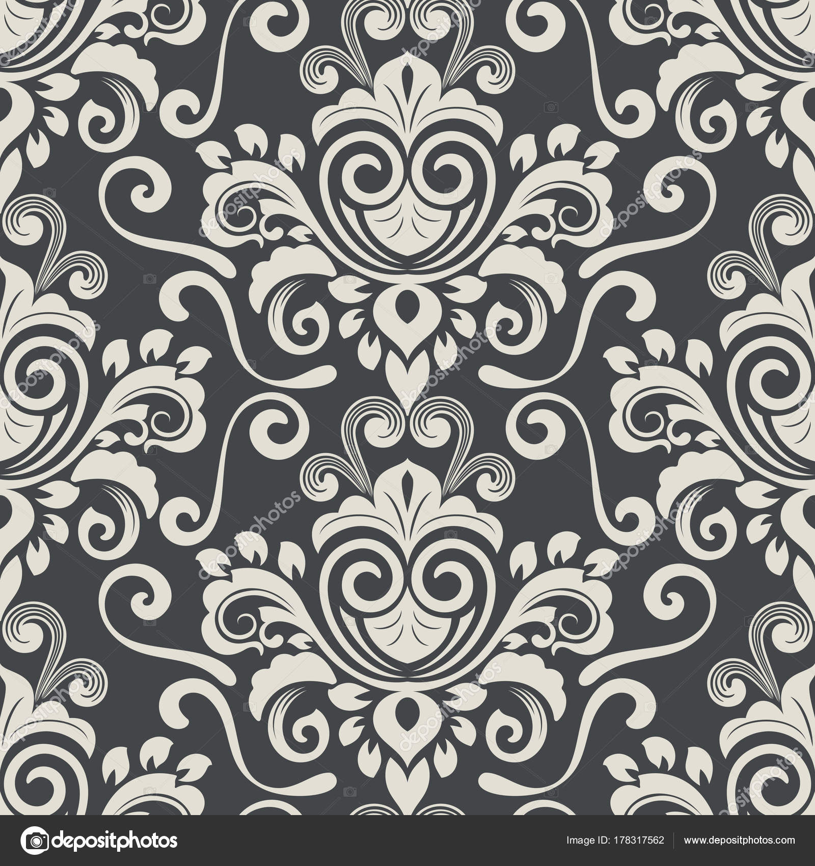 Vintage Wallpaper Pattern Stock Vector C Lenapix 178317562