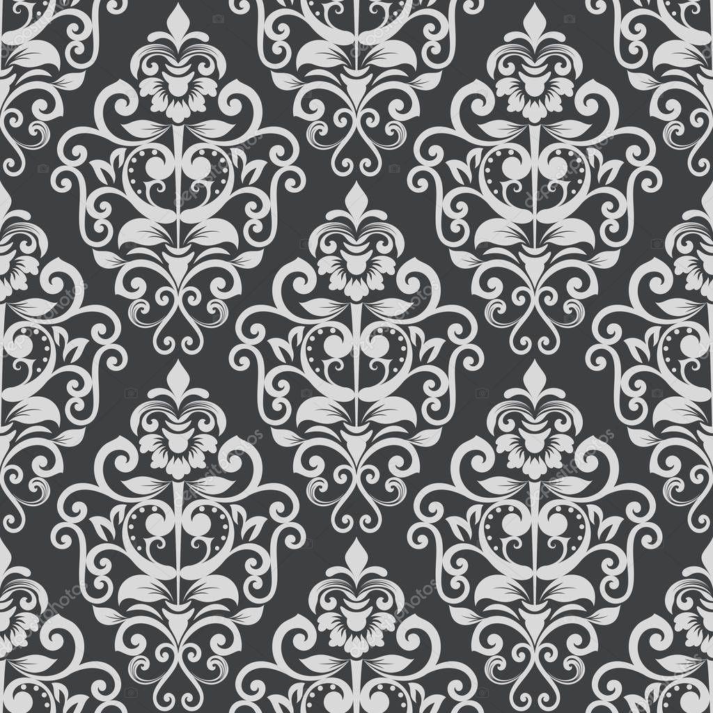Black And White Vintage Tapetenmuster Stockvektor Lenapix 178316752