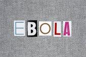 ebola word on grey background. medical concept