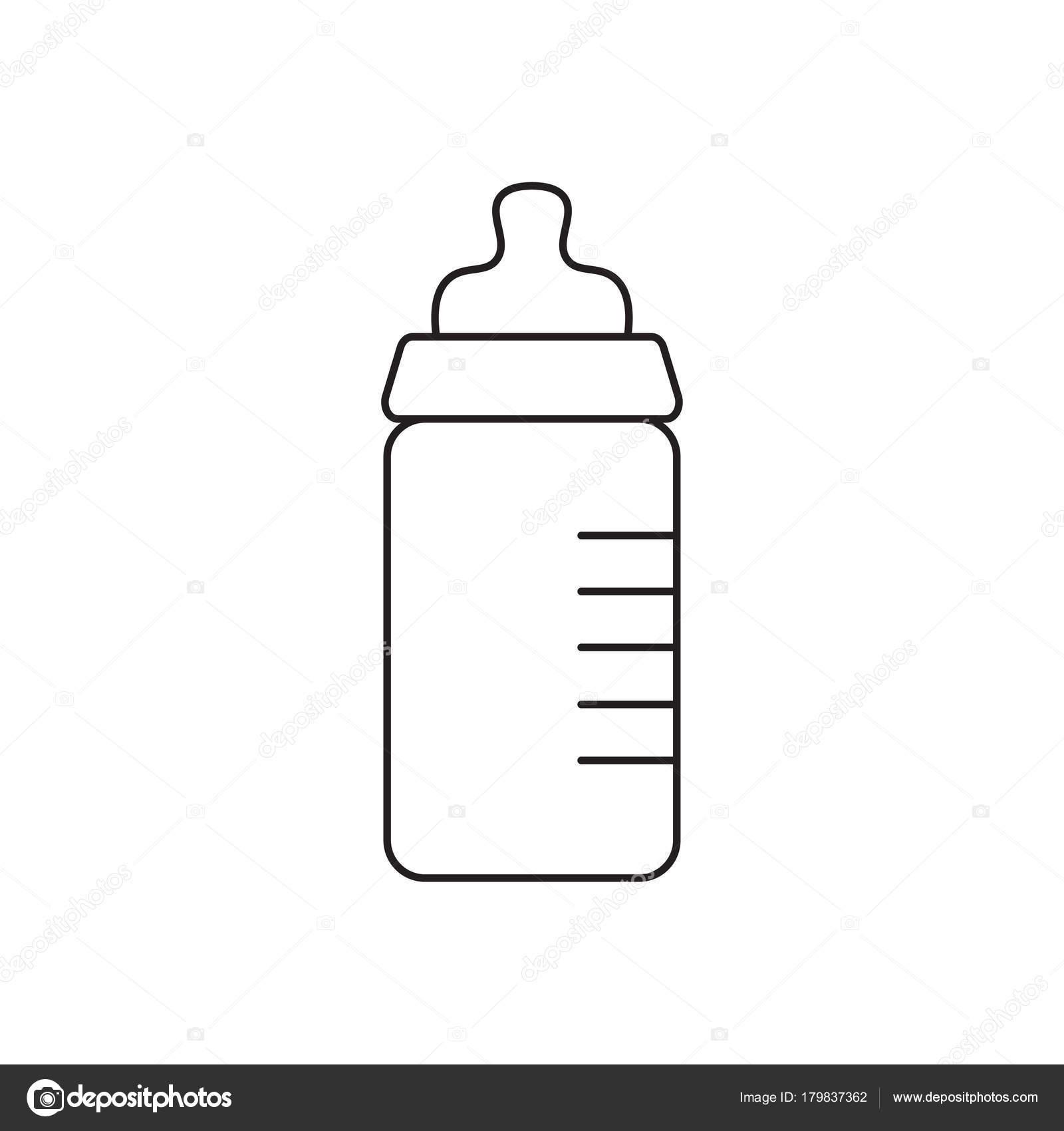 Biber n con ilustraci n de chupete icono vector vector - Dessin de biberon ...