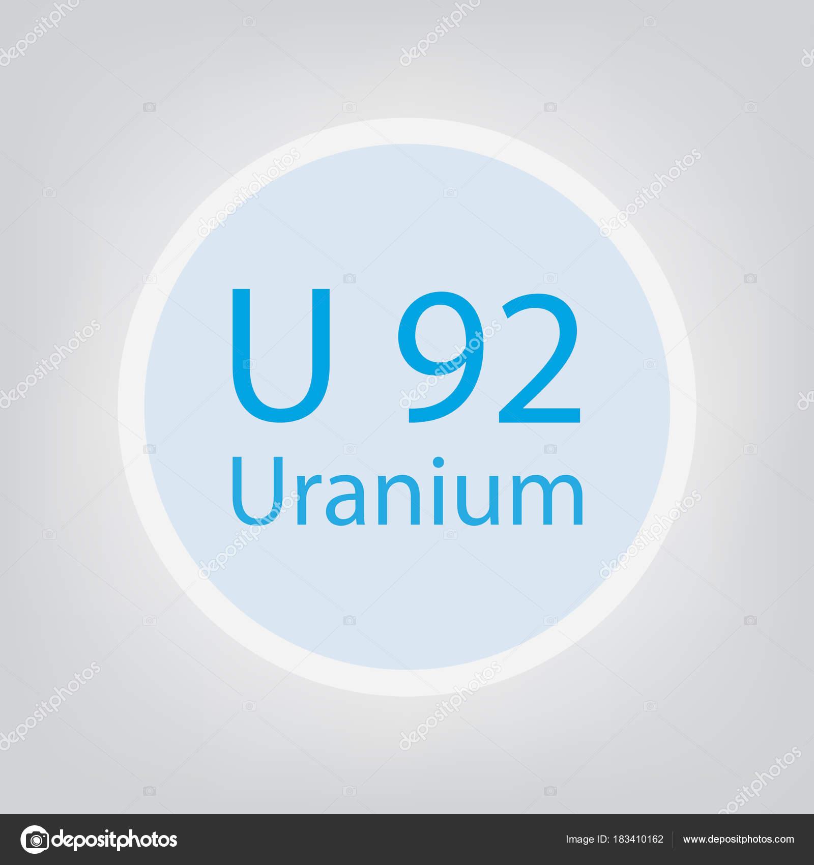 Uranium u chemical element icon vector illustration stock vector uranium u chemical element icon vector illustration stock vector buycottarizona Images