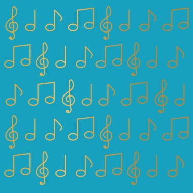music notes background- vector illustration
