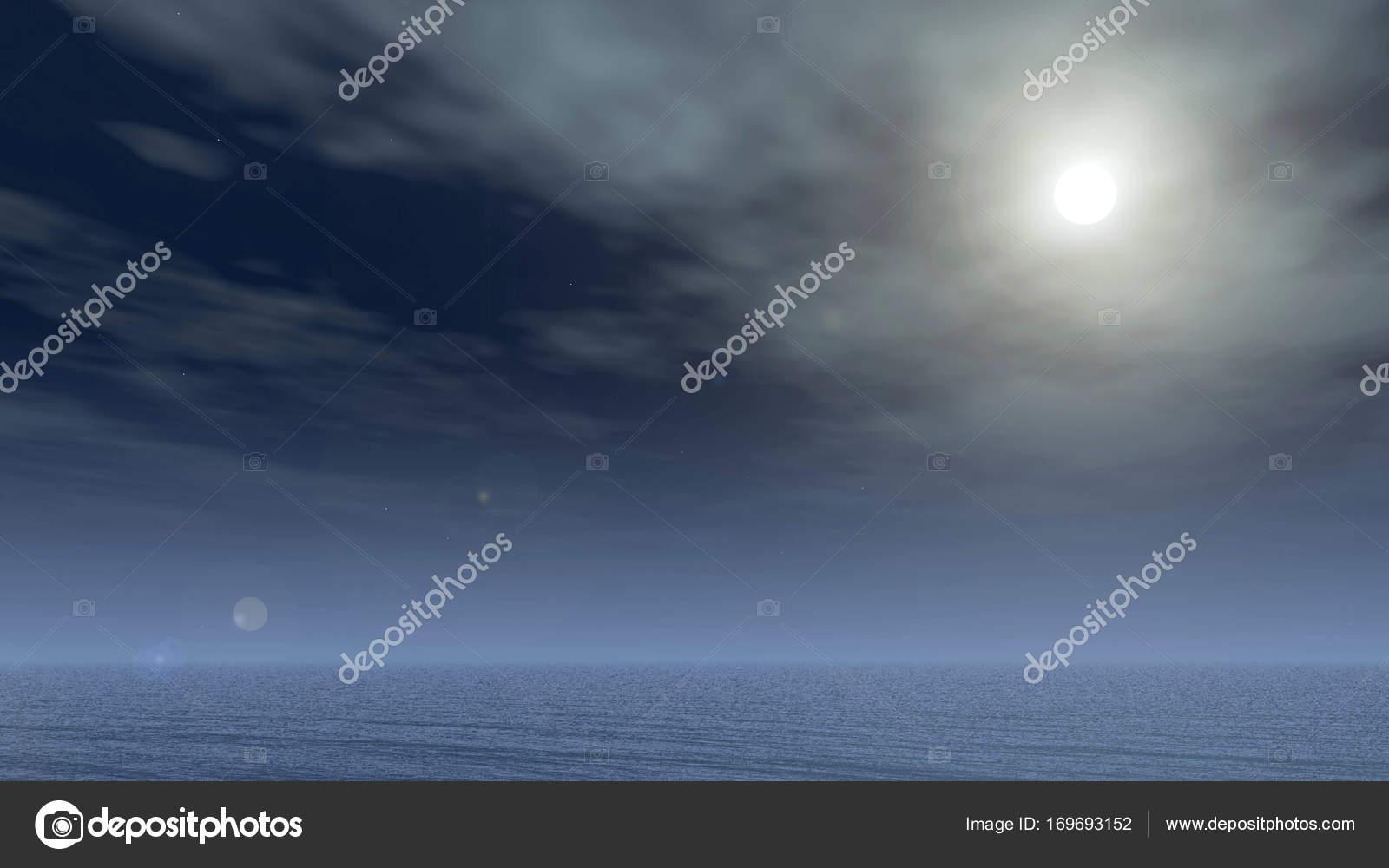 Immagini Sfondi Notte Mare Sfondo Di Cielo E Mare Di Notte Luna