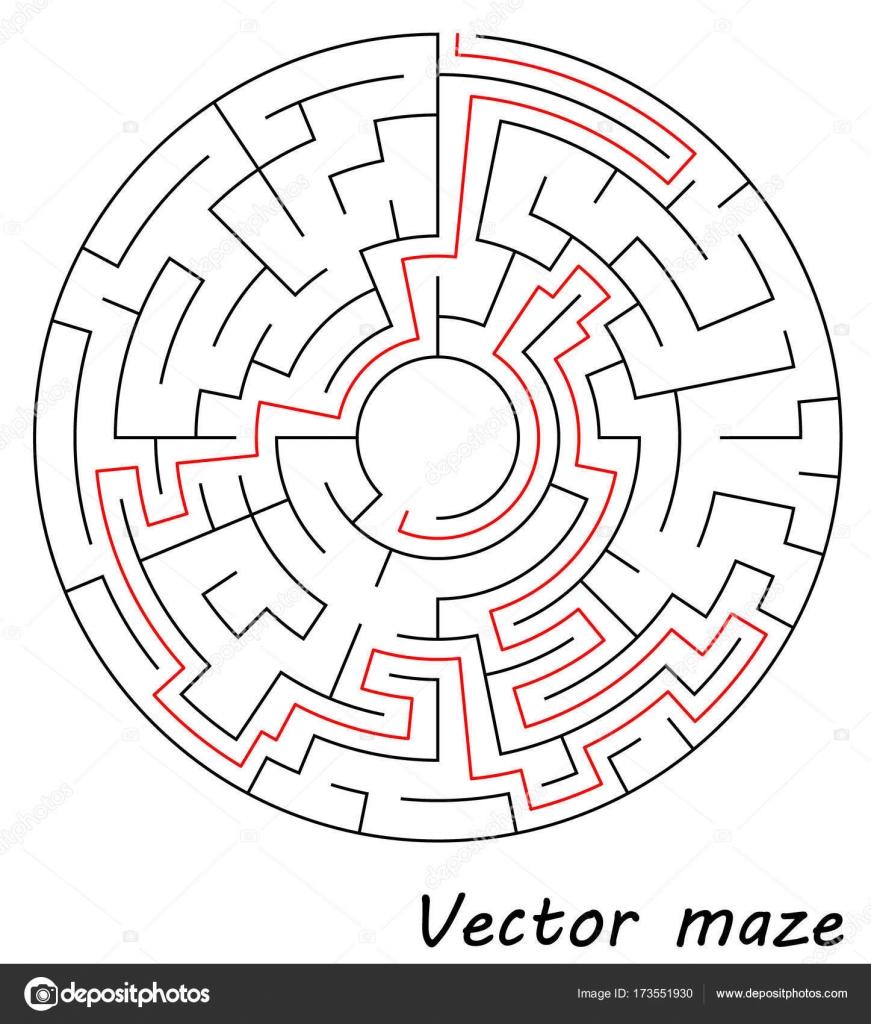 Plantilla de laberinto de vectores aislado sobre fondo blanco ...