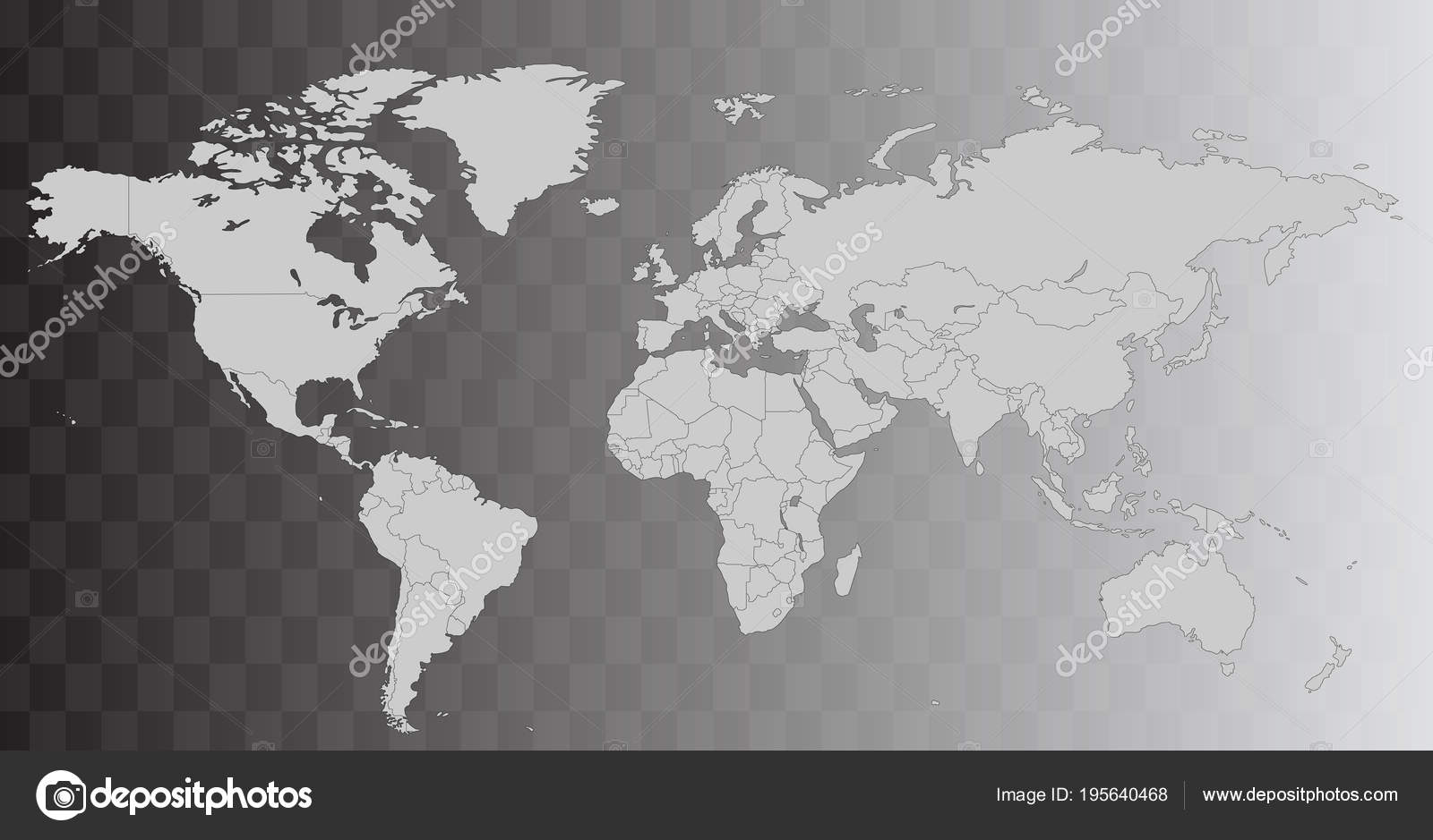 Background: transparent world map outline | Vector world map