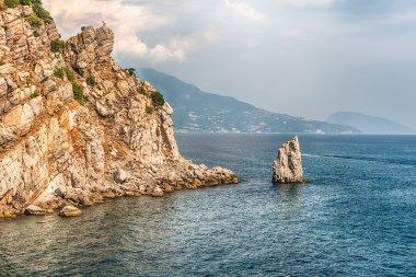 Scenic coastline on the Black Sea near Yalta, Crimea