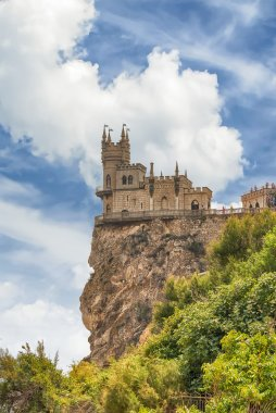 Swallow's nest, scenic castle over the Black Sea, Yalta, Crimea