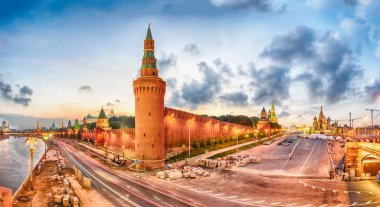 Panoramic view of Red Square and Moskva River, Moscow, Russia