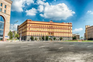 Lubyanka Building, iconic KGB former headquarters, Moscow, Russia