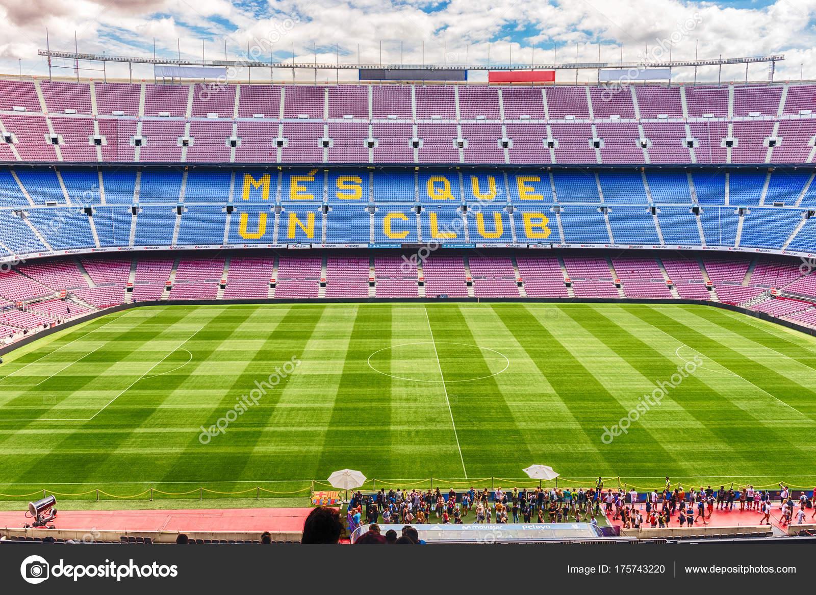 Interno Camp Nou Stadio Di Casa Del Fc Barcelona