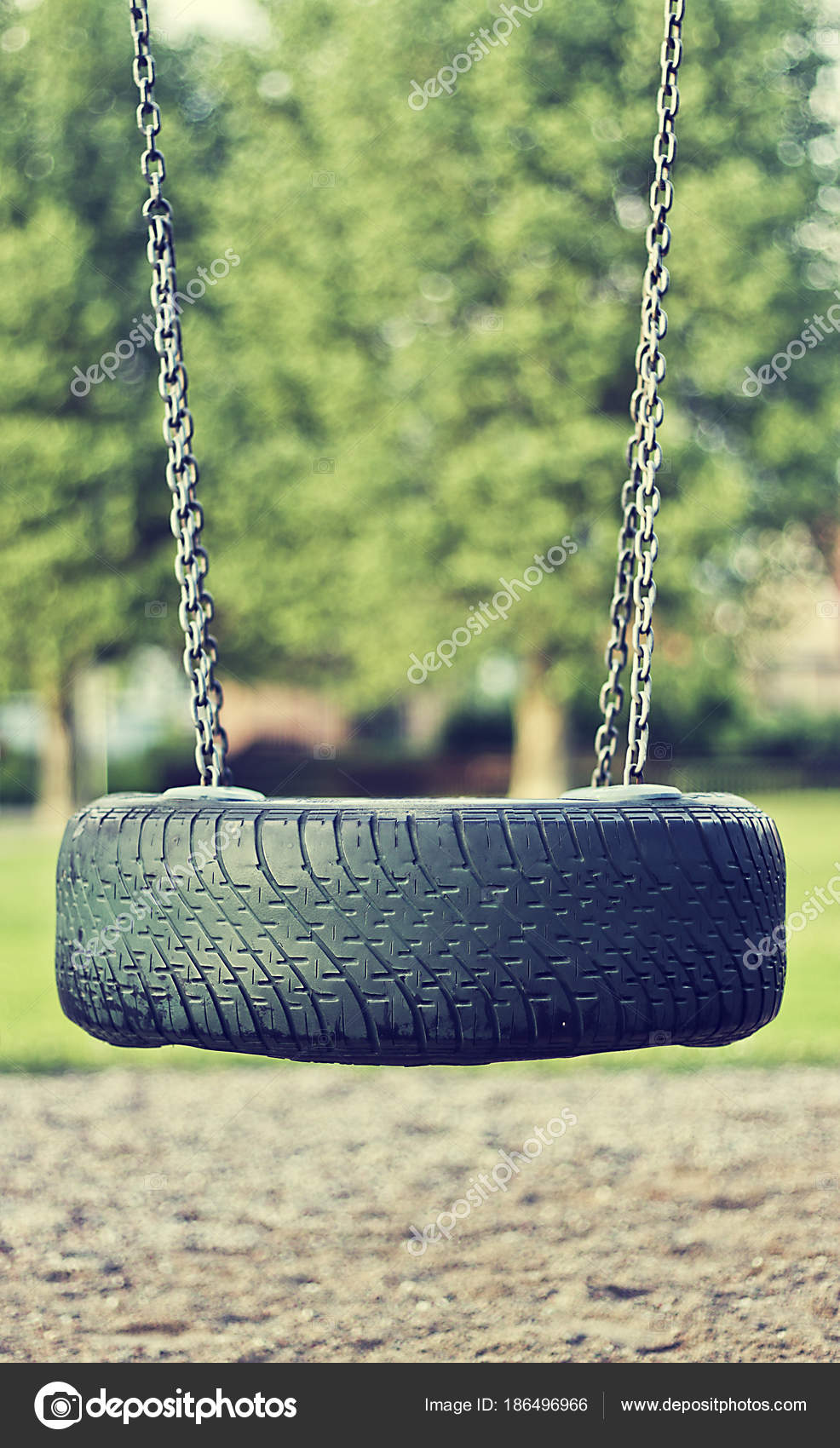 Beautiful Summer Season Specific Photograph Old Car Tire Used As A Swing For Children Play Time Theme Stock Photo C Jezepidesigns 186496966