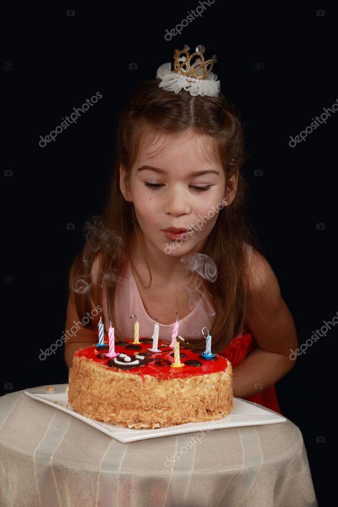 Girl S Birthday Cake Stock Photo C Choocha69 127336468