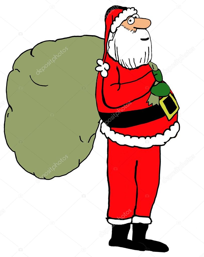 Santa Claus with Toy Bag — Stock Photo © andrewgenn #124995752