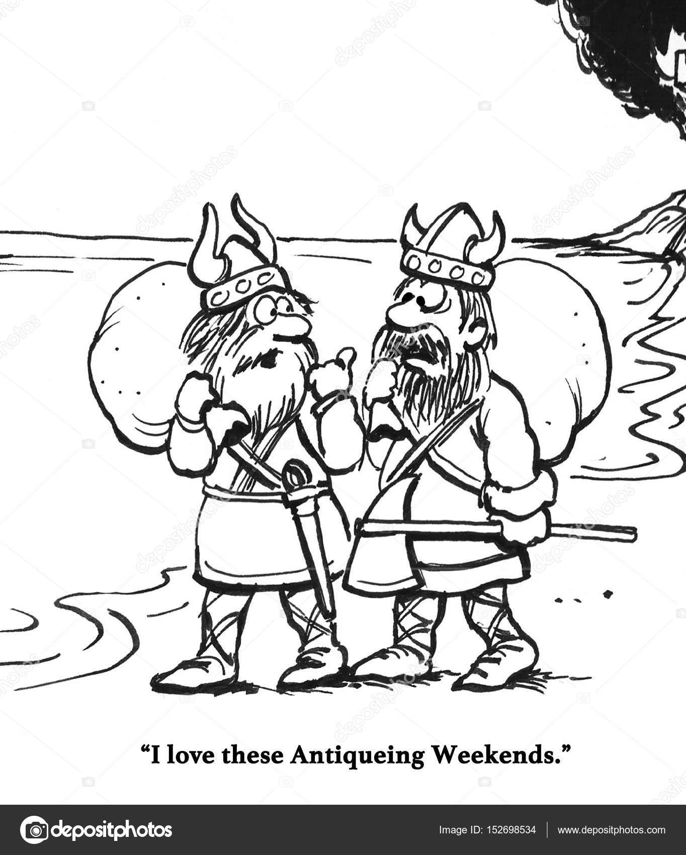 Vikingler Antika Hafta Sonu Stok Foto Andrewgenn 152698534