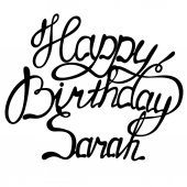 Photo Happy birthday Sarah lettering
