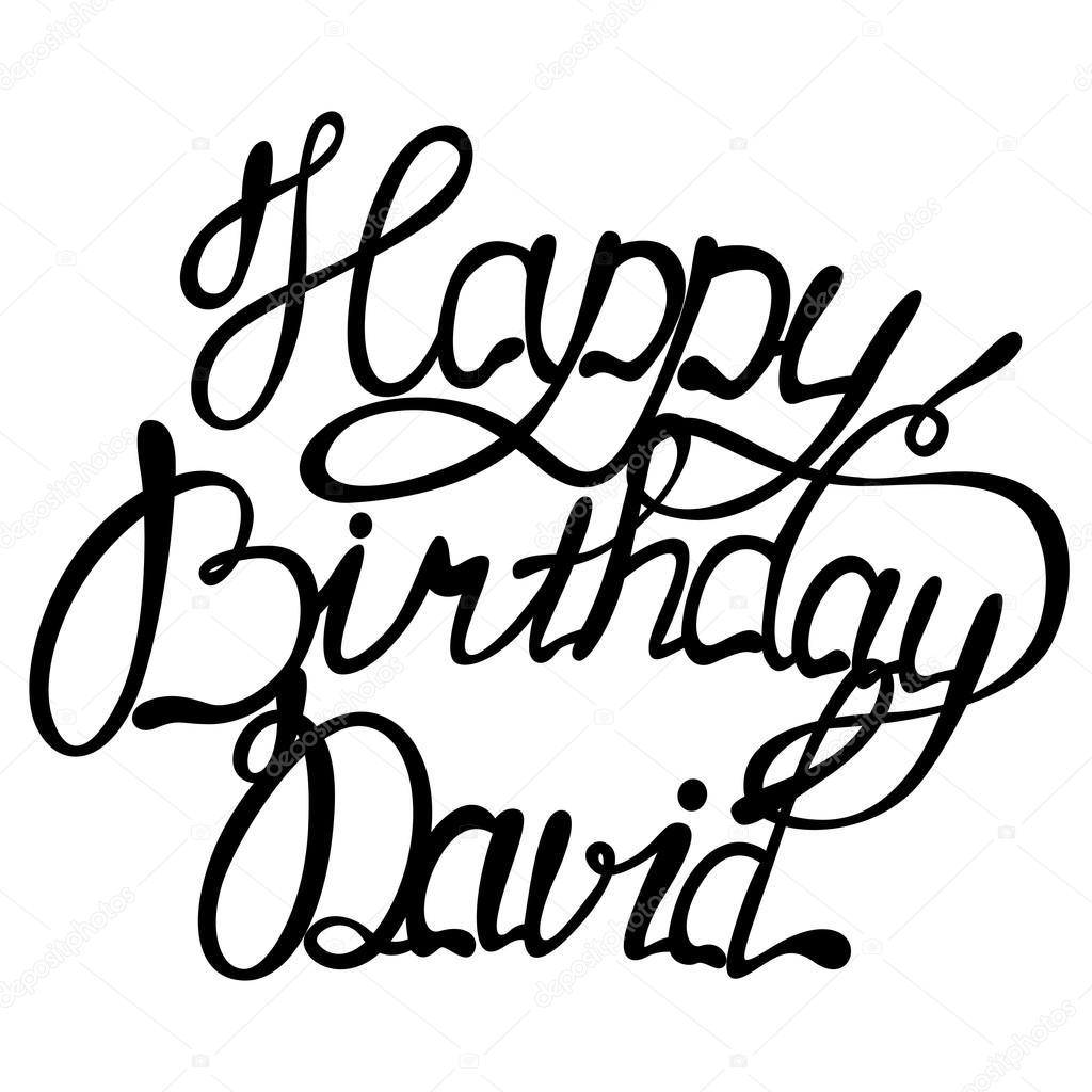 grattis david Grattis på födelsedagen David bokstäver — Stock Vektor © Marishayu  grattis david