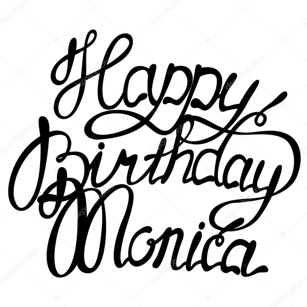 grattis monica Grattis Monica bokstäver — Stock Vektor © Marishayu #124985618 grattis monica