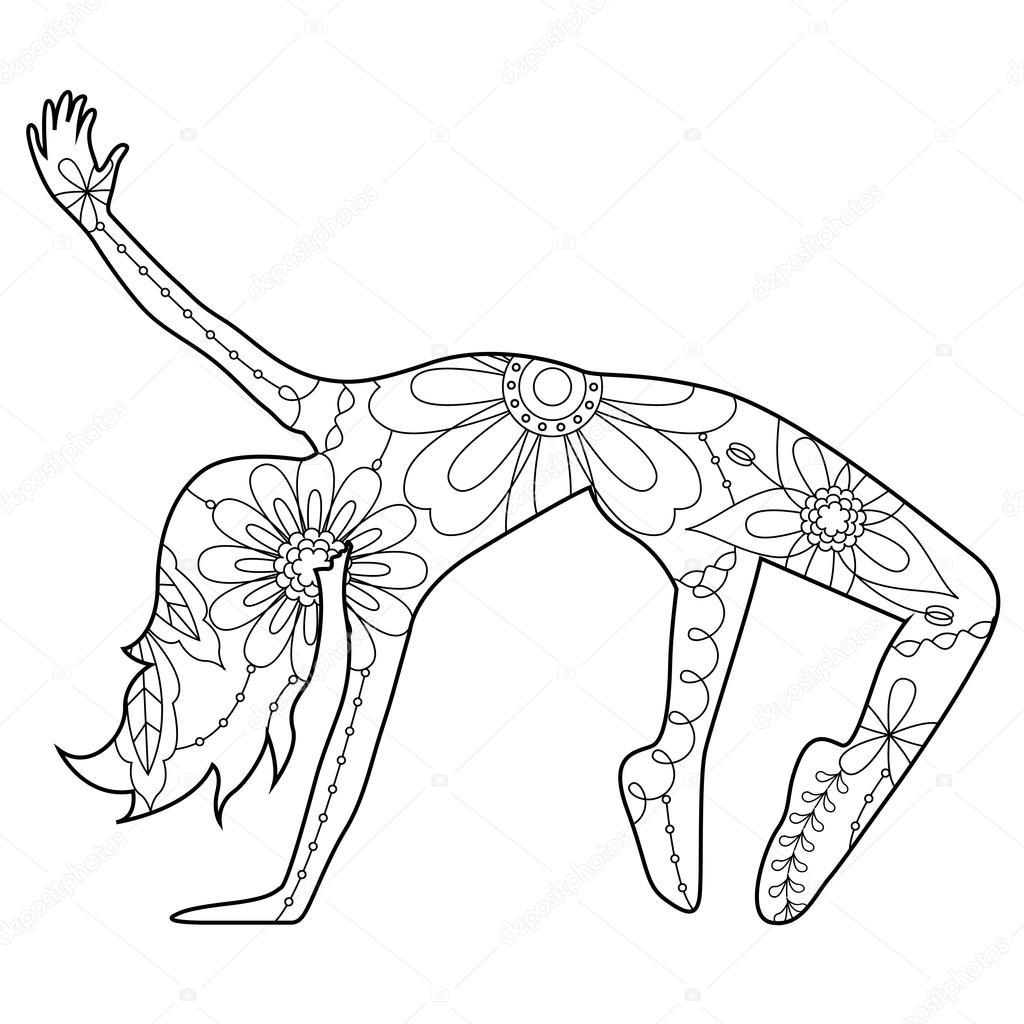 Bailarina moderna para colorear — Archivo Imágenes Vectoriales ...