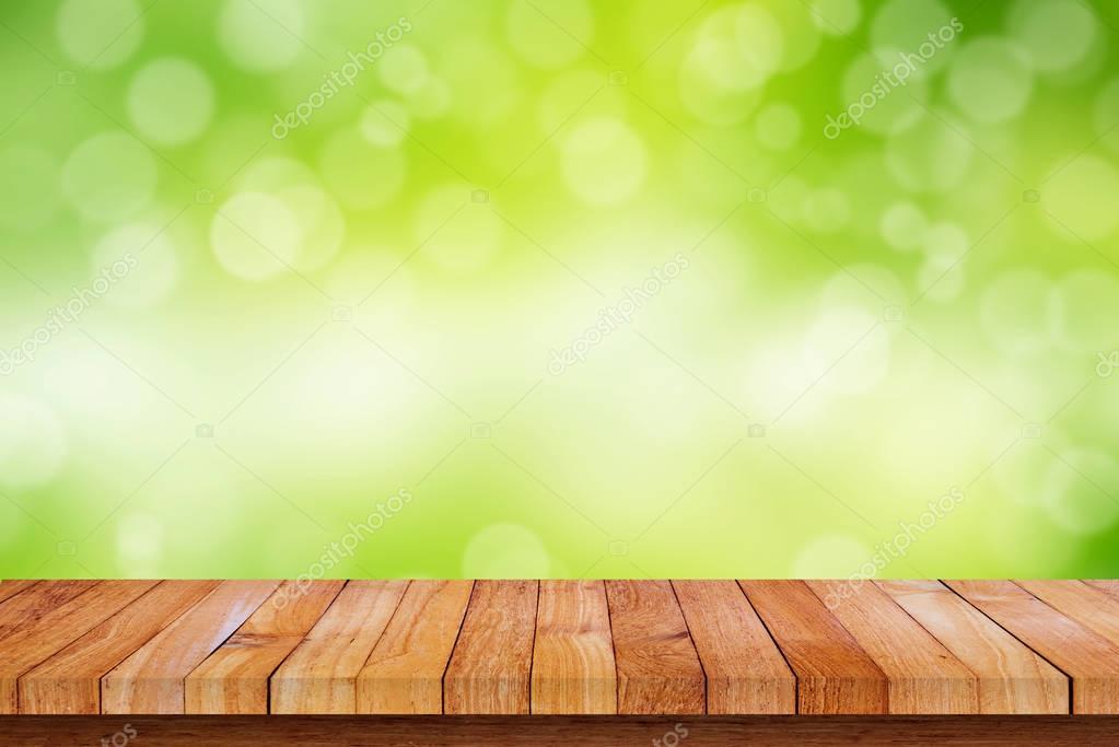 Holzfußboden Natur ~ Holzboden mit natur bokeh hintergrund u stockfoto jesadaphorn