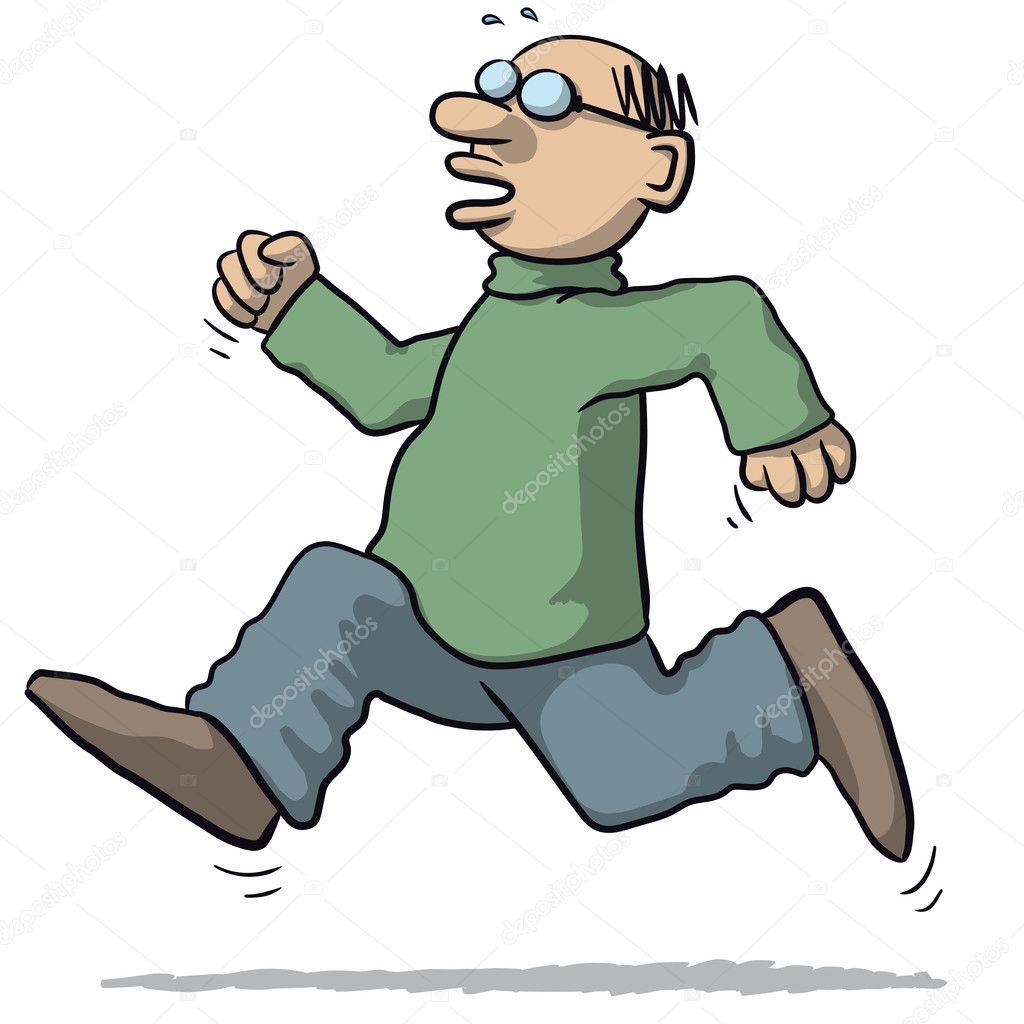 Koşan Bir Adam çizimi Stok Vektör Robodread 126246788
