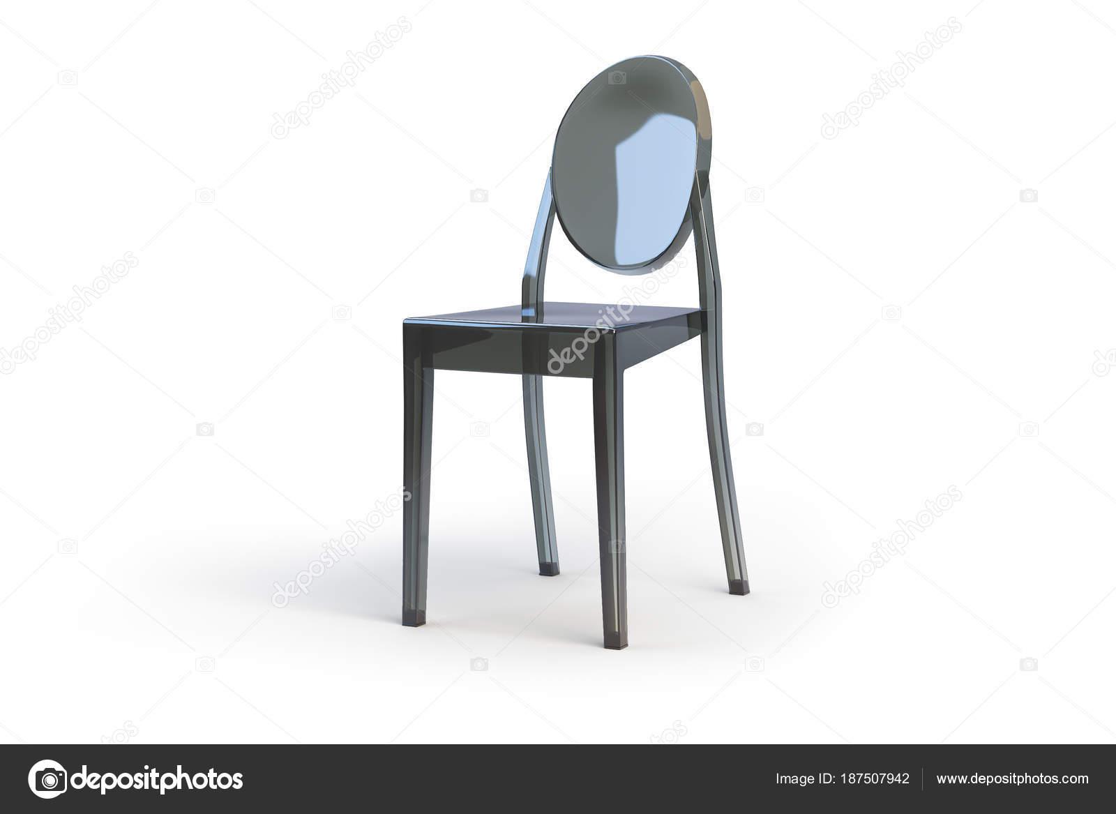 Sedie Di Plastica Trasparenti : Sedia in plastica trasparente d render u foto stock dmitruk
