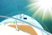 Yacht Boot am Meer