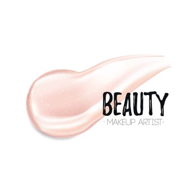 Template card for beauty makeup artist