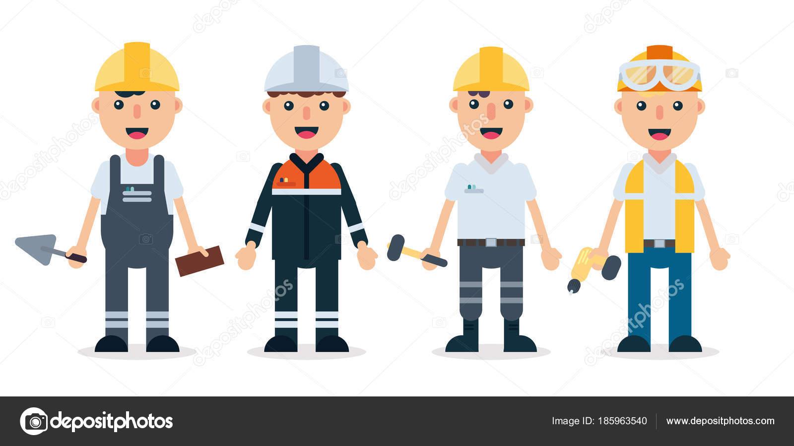 Builders/Technician and engineers and mechanics flat Stock Vector ...
