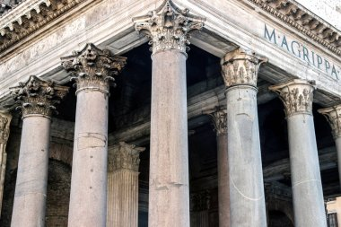huge pillars of Pantheon in rome