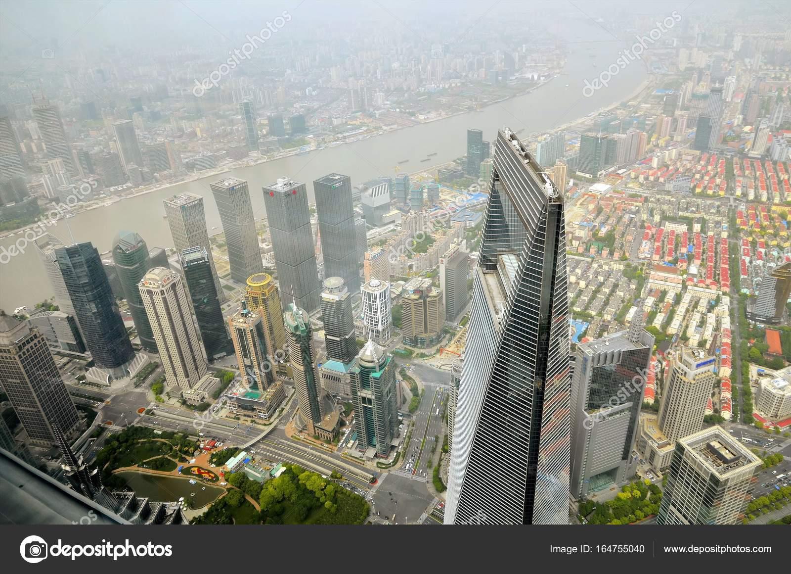 Shanghai China May 6 2017 Aerial View Of Shanghai World
