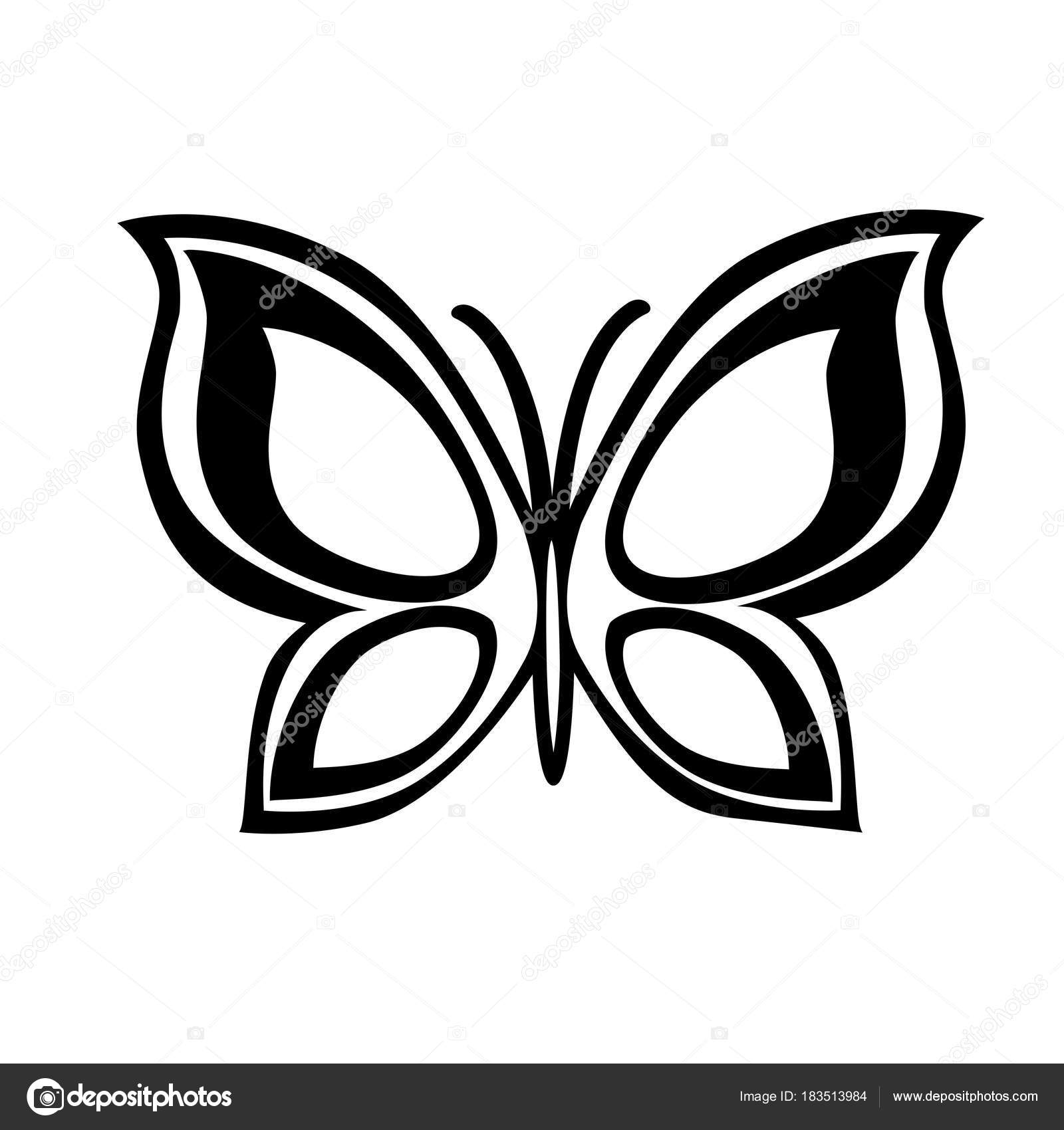 Plantillas De Tatuajes De Mariposas Resumen Mariposa Monocromo
