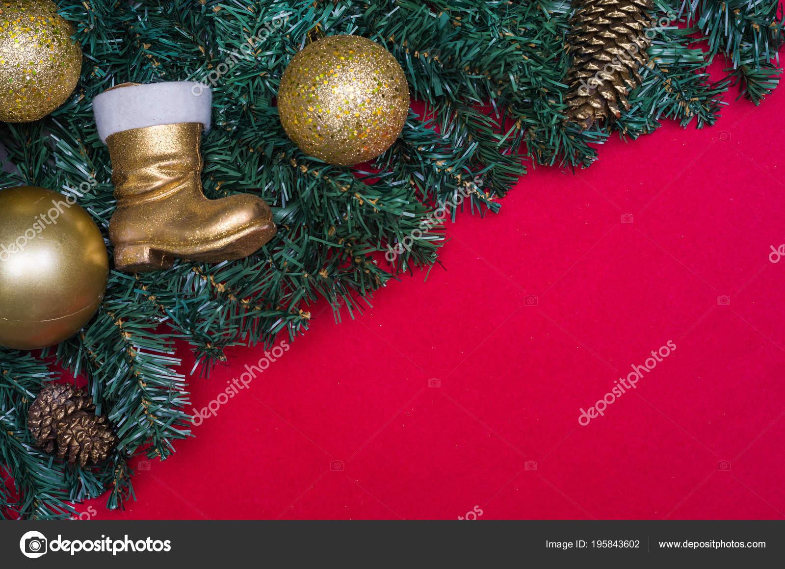 Textura Con Tema Navidad Con Hojas Color Verde Objetos Decorativos ...