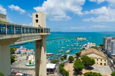 View of the Lacerda Elevator and the Todos os Santos Bay in Salv