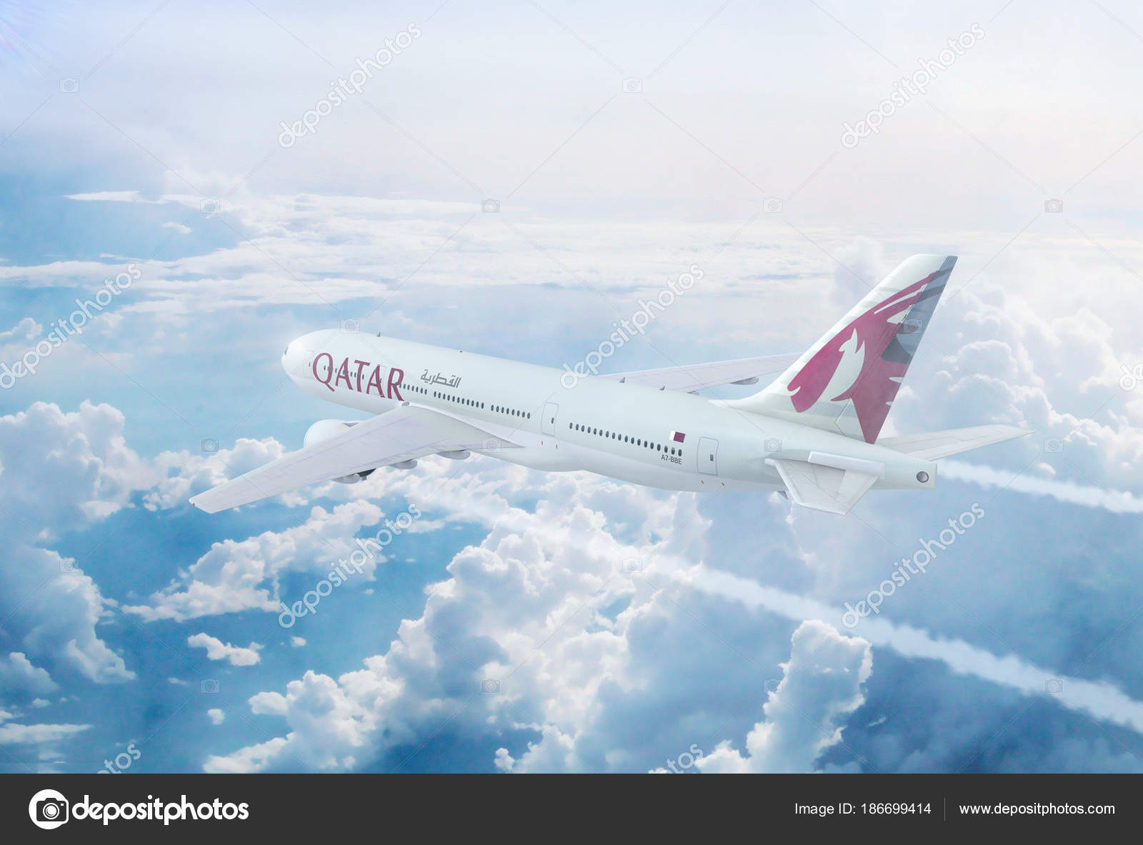 Aerial In Flight View Of Qatar Airways Boeing 777 On The Worlds Longest Commercial Journey From Doha To Auckland New Zealand Photo By