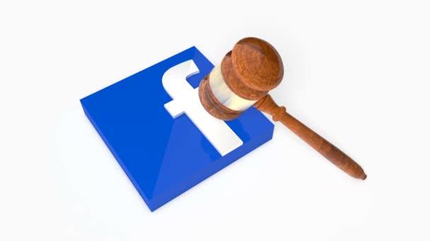 Facebook logója, hogy lezuhant egy marok lemez