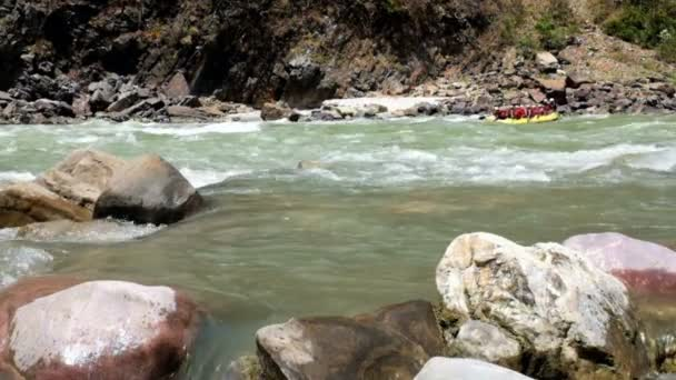 Rafting on the river Ganga in India