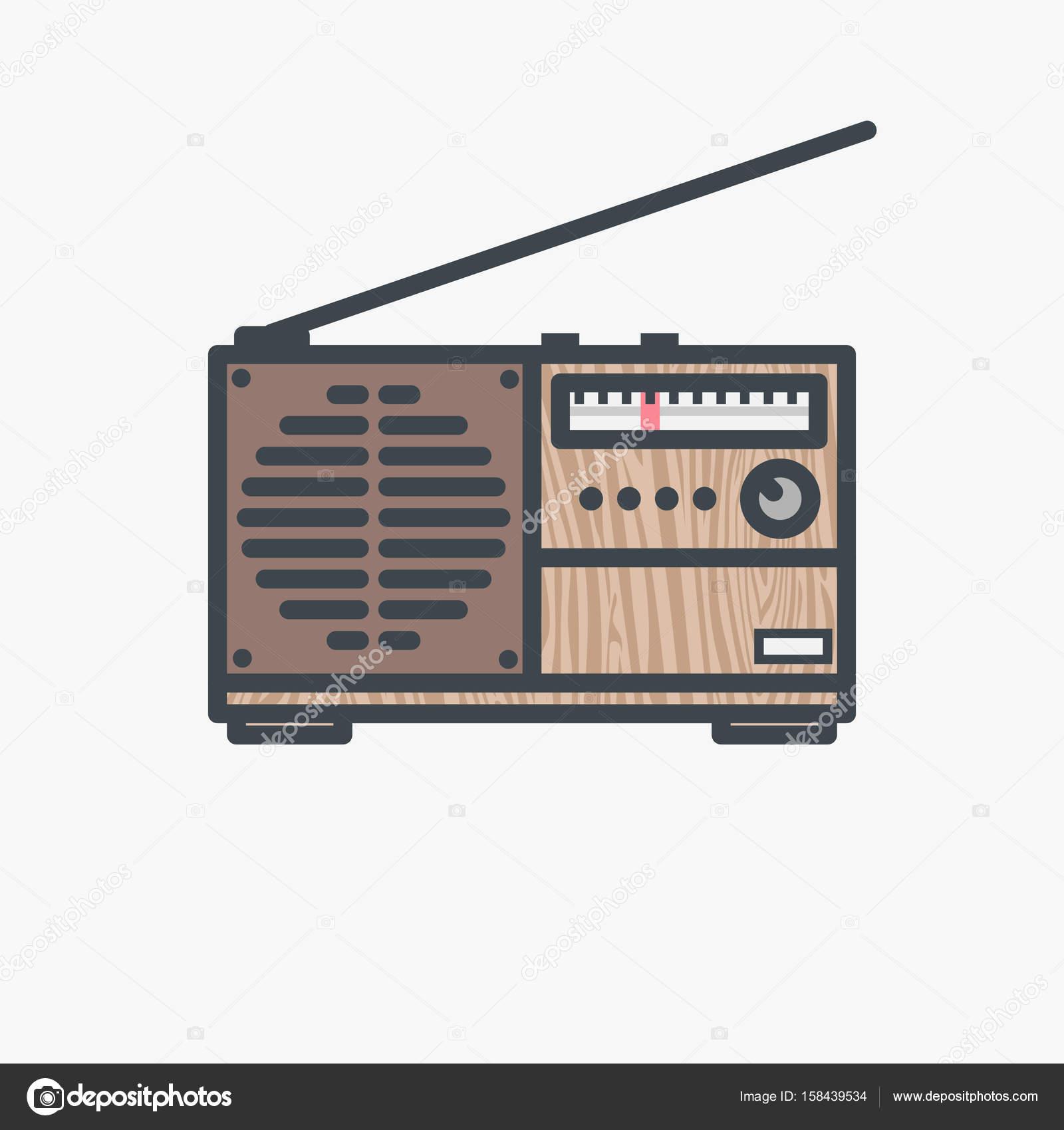 Fm Antenne Vintage-Empfänger