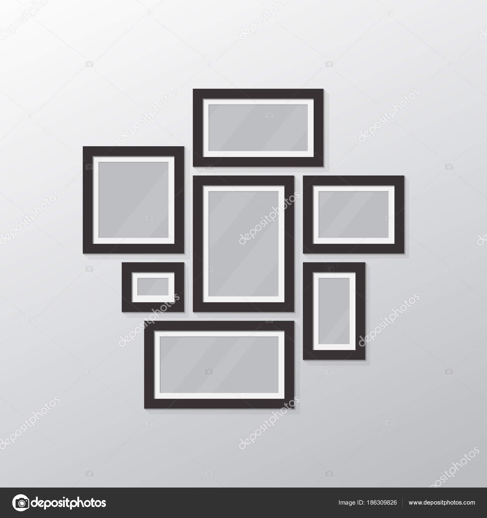 写真コラージュ テンプレート ストックベクター ikonstudios 186309826