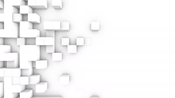 Abstraktní kostky na pozadí přechodu, animace 3d Loopable 4k